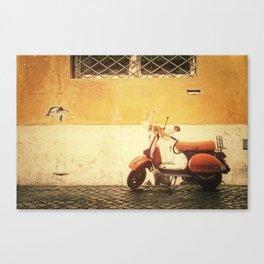 Vespa Orange Canvas Print