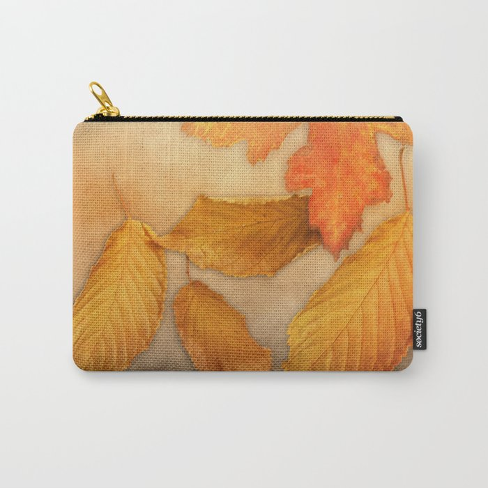Autumn leaves in yellow and orange Carry-All Pouch