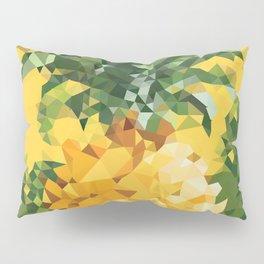 Tropical Pineapple Low Polygon Geometric Art Pillow Sham
