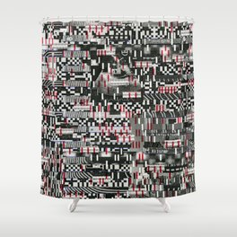 Comfortable Ambiguity (P/D3 Glitch Collage Studies) Shower Curtain
