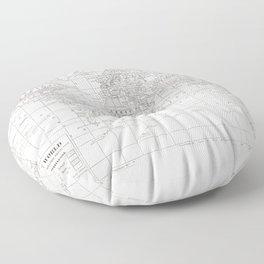 World Map ~ White on White Floor Pillow