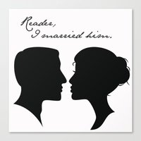 jane eyre Canvas Prints featuring Jane Eyre: Reader, I married him by AfterThisChapter