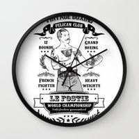 boxing Wall Clocks featuring Vintage Boxing by T-SIR   Oscar Postigo