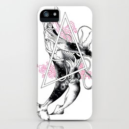 Whale and Giant Squid iPhone Case