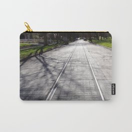 Streetcar Tracks Still Visible On Residental Street Carry-All Pouch
