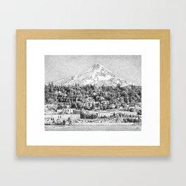 Hood River, Oregon. Framed Art Print