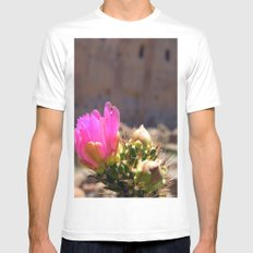 Cacti and Ruins 1 White Mens Fitted Tee MEDIUM