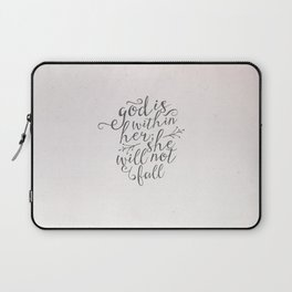 SHE WILL NOT FALL Laptop Sleeve
