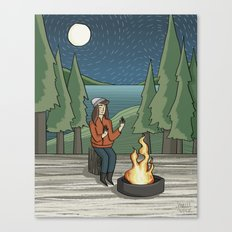 Campfire Girl II Canvas Print
