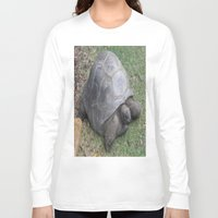 tortoise Long Sleeve T-shirts featuring tortoise by shannon's art space