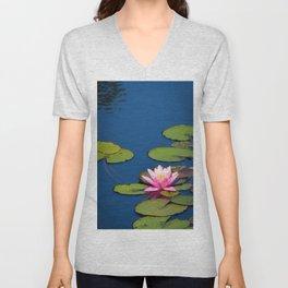Pink Waterlily by Teresa Thompson Unisex V-Neck