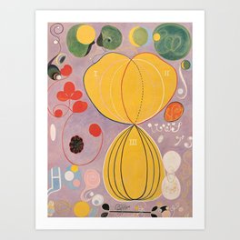 Hilma af Klint, Group IV, No. 7, The Ten Largest, Adulthood Art Print