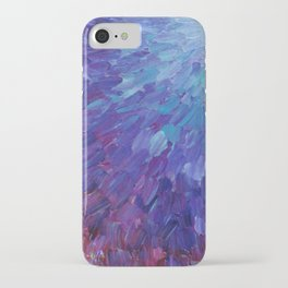 SCALES OF A DIFFERENT COLOR - Abstract Acrylic Painting Eggplant Sea Scales Ocean Waves Colorful iPhone Case