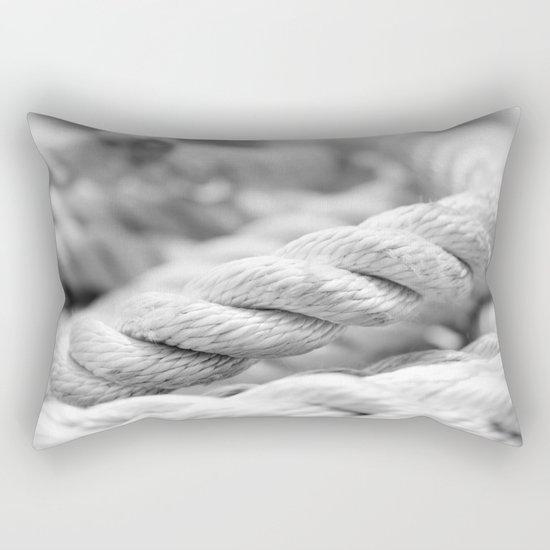Ropes black and white macro Rectangular Pillow