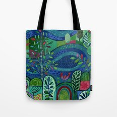 Bird by the Pond Tote Bag