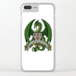 Clan Stonefire Green Dragon Crest Clear iPhone Case