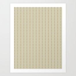 Mini triangle pattern - Warm caffee Art Print