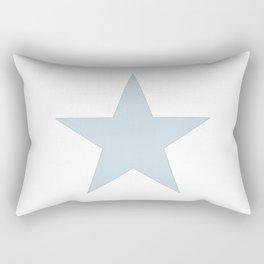 Single dove gray star on white Rectangular Pillow