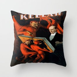 Vintage poster - Kellar the Magician Throw Pillow