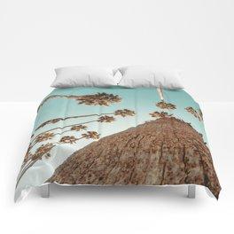 {1 of 2} Hug a Palm Tree // Tropical Summer Teal Blue Sky Comforters