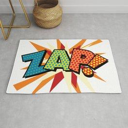 ZAP Comic Book Modern Pop Art Fun Colorful Cool Graphic Rug