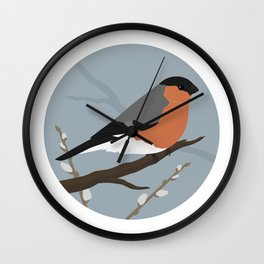 Eurasian Bullfinch Wall Clock