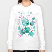 bees Long Sleeve T-shirts featuring Bees by rudziox