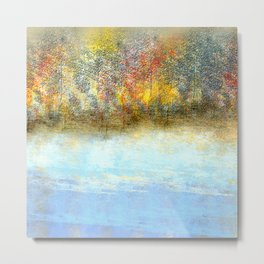 Autumn by the Lake Metal Print