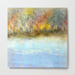 Autumn by the Lake Metal Print