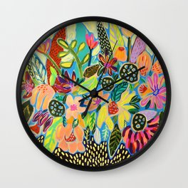 Poison Flowers Wall Clock