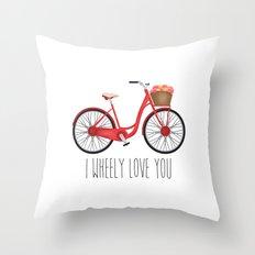 I Wheely Love You Throw Pillow
