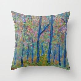 Impressionism Tree Forest, Modern Home Decor, Tree Art Throw Pillow