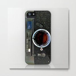 classic retro army look steampunk rustic vintage camera iPhone 4 4s 5 5c, ipod, ipad case Metal Print