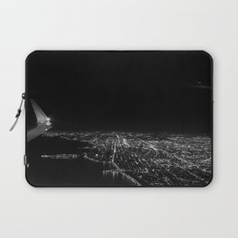 Chicago Skyline. Airplane. View From Plane. Chicago Nighttime. City Skyline. Jodilynpaintings Laptop Sleeve