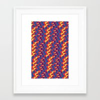 pixel art Framed Art Prints featuring Pixel  by Colocolo Design | www.colocolodesign.de