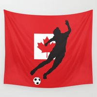 canada Wall Tapestries featuring Canada - WWC by Alrkeaton