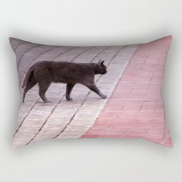 Cat Walking  6589 Rectangular Pillow