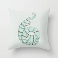 Curlicue Monster Throw Pillow