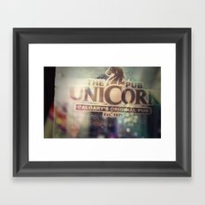 The Unicorn Pub Framed Art Print