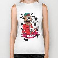 swag Biker Tanks featuring SWAG by reda el mraki