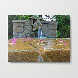 Hidden Fountain Metal Print