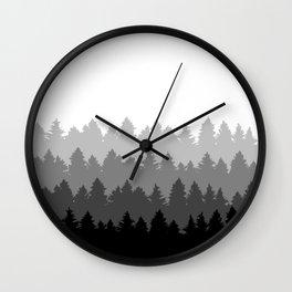 Fading Treeline Wall Clock