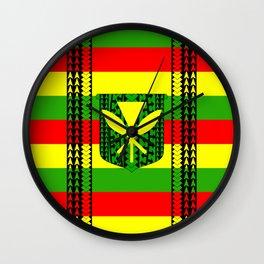 Tribal Kanaka Maoli Wall Clock