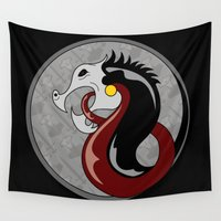 shield Wall Tapestries featuring Viking Shield by Andrew Leif Hanssen