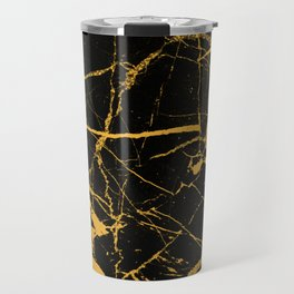 Orange Marble - Abstract, textured, marble pattern Travel Mug