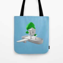 Tree House Boat Tote Bag