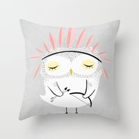 carpe Throw Pillows featuring BE BRAVE by Kelli Murray
