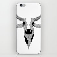 cow iPhone & iPod Skins featuring Cow by Art & Be