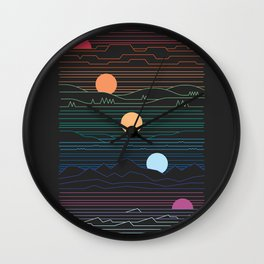 Many Lands Under One Sun Wall Clock