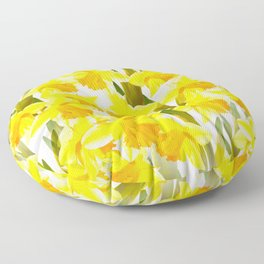 Spring Breeze With Yellow Flowers #decor #society6 #buyart Floor Pillow